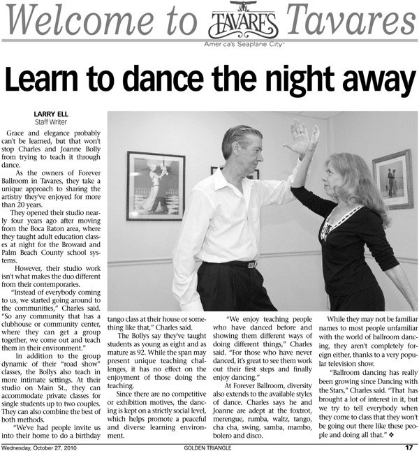 Forever Ballroom article